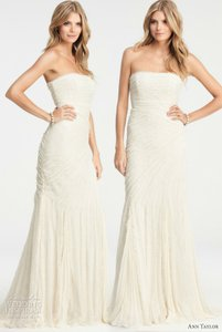 Designer clothing and accessories up to 90 off at tradesy ann taylor jasmine lace weddine dress wedding dress junglespirit Images