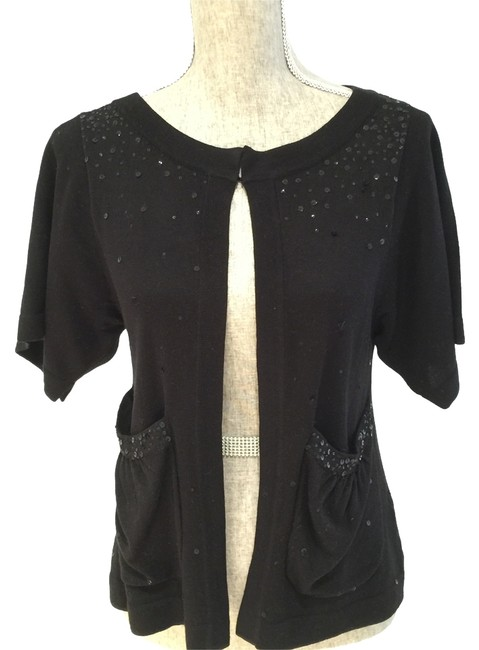 Preload https://img-static.tradesy.com/item/8791201/french-connection-black-sequined-small-cardigan-size-6-s-0-2-650-650.jpg
