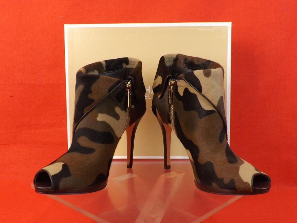 cd34520f5bdaa Michael Kors Camouflage Pony Hair Peep Toe Kendra Ankle Boots/Booties Size  US 9 Regular (M, B) - Tradesy