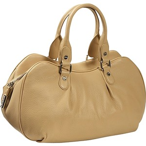Bodhi Trends Double Handles Leather Satchel in Caramel