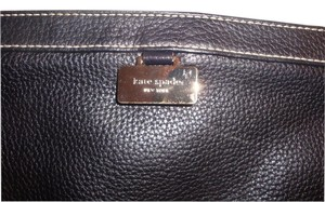 Kate Spade Sparkle Chain Leather Dark Navy Clutch