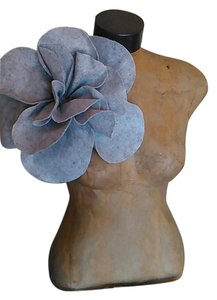 Other Tracey Vest Pale Gray Felt Oversized Flower Magnet Pin
