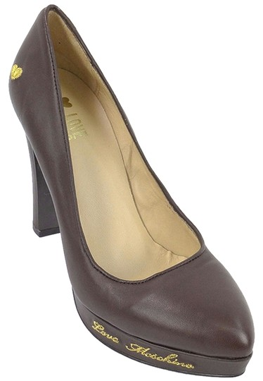 Love Moschino Logo Leather Brown Pumps Image 1