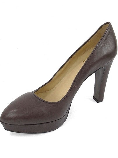 Love Moschino Logo Leather Brown Pumps Image 3