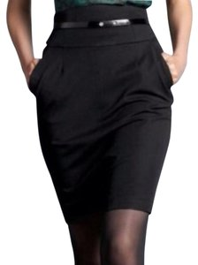 Banana Republic Wool Pencil Skirt Blac