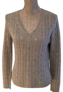 Lord & Taylor Cashmere Gray Cashmere Sweater