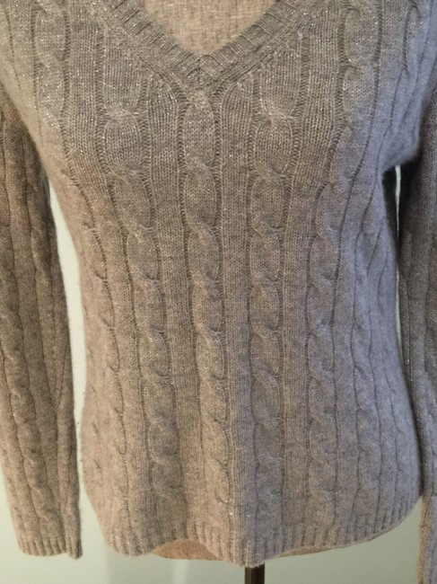 Lord & Taylor Cashmere V-neck Size Small Cashmere Tops Sweater Image 2