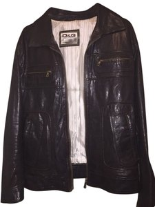 Dolce&Gabbana Dolce And Gabbana Leather Brown Leather Jacket