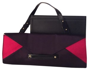 Nine West Magenta And Dark Purple Clutch