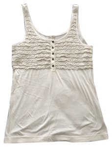 J.Crew Crochet Button Top Cream