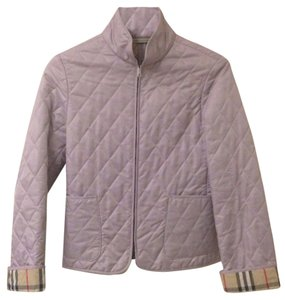 Burberry Zip Quilted Zip Quilted London Brit Classic Small Lavender Jacket