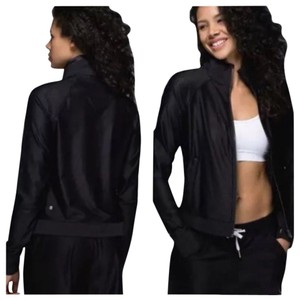 Lululemon New With Tags Lululemon Sweaty Or Not Black Jacket Sz 4