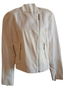 Vince Camuto White Leather Jacket