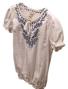 Aéropostale Top White ans Blue