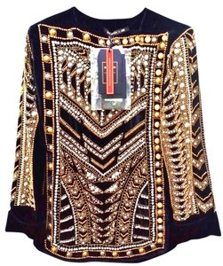 Balmain x H&M Beaded Us 6 Hmbalmanation Top BLACK