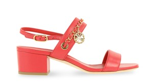 Chanel Clover Classic Gold Hardware Red Sandals