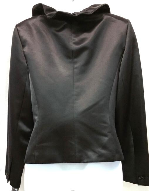 Kay Unger Satin Silk Top BLACK Image 4