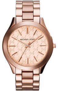 Michael Kors Women's Rose Gold-Tone Michael Kors Slim Runway Watch MK3336