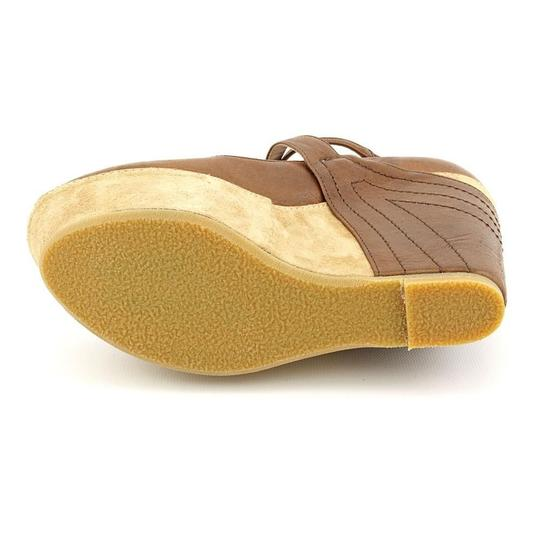 Kooba Leather Luggage Wedges