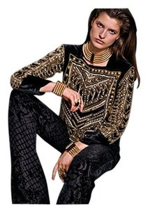 Balmain x H&M Velvet Beaded Hm Top Black