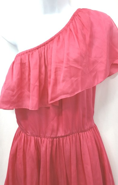 Luca Luca short dress CORAL Italy One Shoulder Silk on Tradesy Image 1