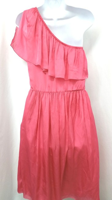 Luca Luca short dress CORAL Italy One Shoulder Silk on Tradesy Image 2