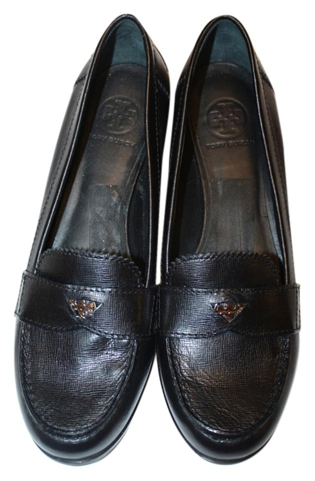 4cac77483dd Tory Burch Black Womens Leather Driver Penny Loafer Flats Size US 11 ...