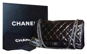 92d0c004c441 Chanel Classic Flap Cambon 31 Rue Double Embossed Maxi Black Leather ...