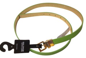 Michael Kors Michael kors Reversible lime green gold belt new with tag mk 2 Sides