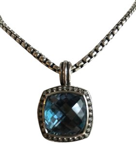 David Yurman 14mm Hampton blue pendant necklace