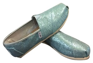 Toms glitter turquoise flats new size 8.5 Flats