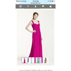 David's Bridal Begonia Chiffon Formal Bridesmaid/Mob Dress Size 6 (S)