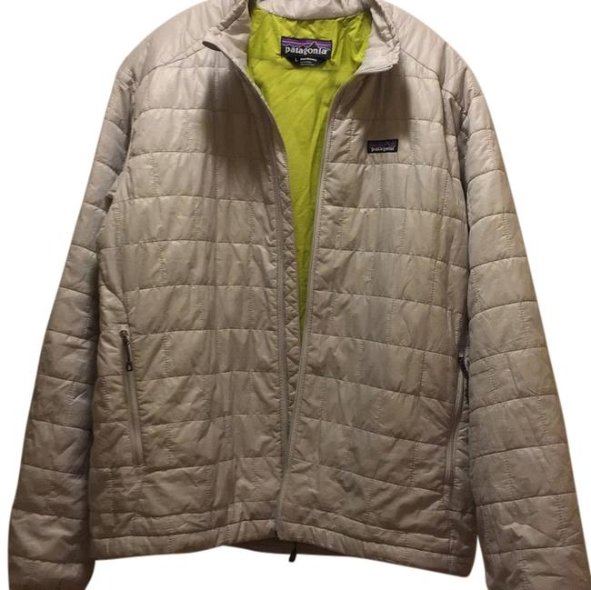 Item - Light Gray with Lime Green Lining Coat Size 14 (L)