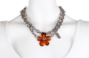 Moschino Moschino Amber Flower Chain Necklace