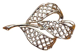 Fashion Gold Tone Leaf Brooch