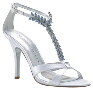 Martinez Valero Embellished T-strap Crystal Blue Wedding Ivory Formal
