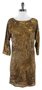Trina Turk Bronze Sequin Shift Shift Dress
