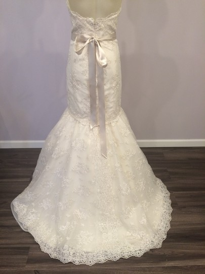 Tara Keely Ivory Lace 2257 Feminine Wedding Dress Size 8 (M)