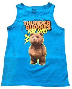 Ted Baker Ted bear blue tank top men's size medium new without tag