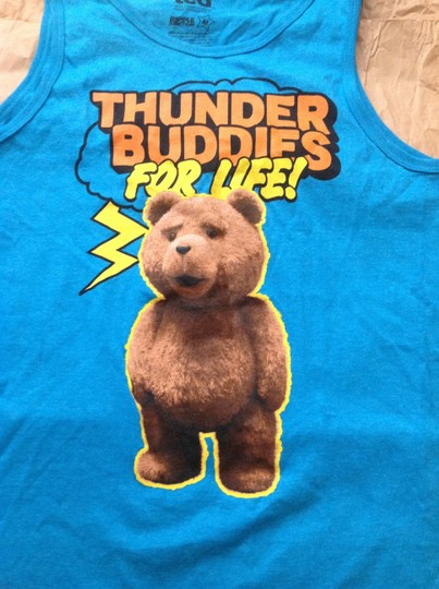 Ted Ted bear blue tank top men's size medium new without tag Image 1