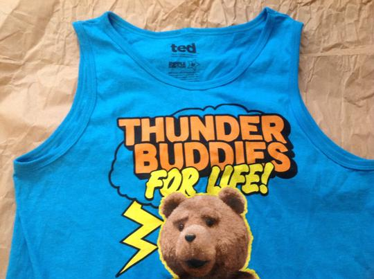 Ted Ted bear blue tank top men's size medium new without tag Image 3