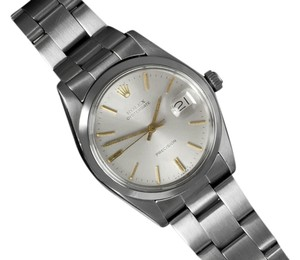 Rolex 1978 Rolex Vintage Mens Oysterdate Date Watch, Silver Dial - Stainless Steel