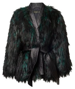 Balmain x H&M Faux Green Fur Coat