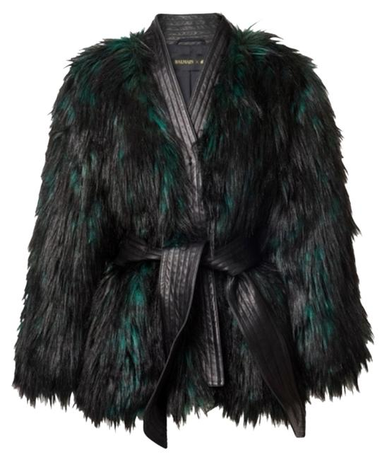 Item - Black and Great Sold Out Faux Jacket In Green Sz2 Coat Size 2 (XS)