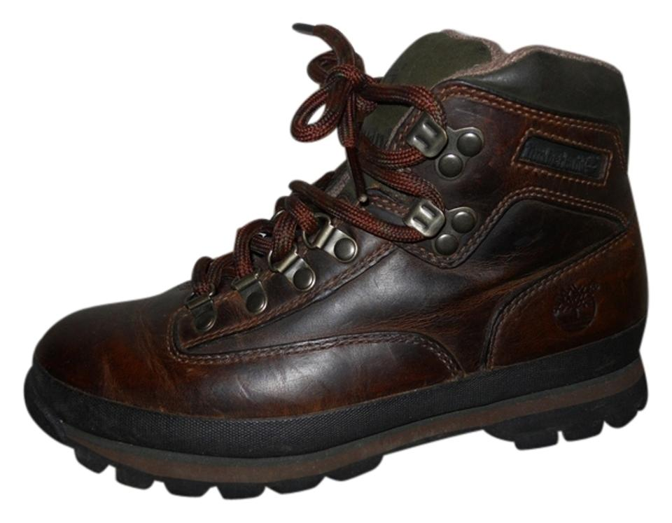 ab8a6e21b10 Timberland Brown Distressed Leather Boots/Booties Size US 7.5 Regular (M, B)