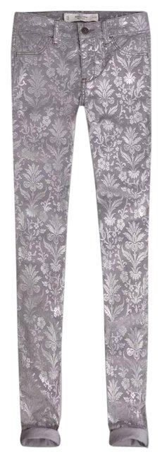 Preload https://img-static.tradesy.com/item/8804047/abercrombie-and-fitch-grey-new-mid-rise-jeggings-foil-floral-pant-skinny-jeans-size-30-6-m-0-2-650-650.jpg