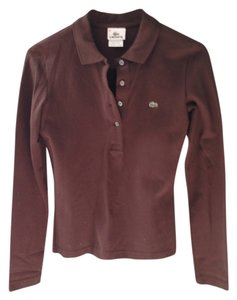 Lacoste Polo Button Down Shirt Brown