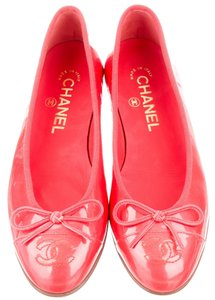 Chanel Coral Patent Red Flats