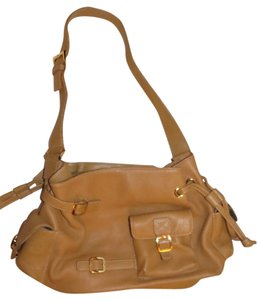 Maxx New York Multi-pockets Gold Hardware Hobo Bag