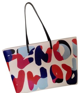 Fendi Tote in White multicolor